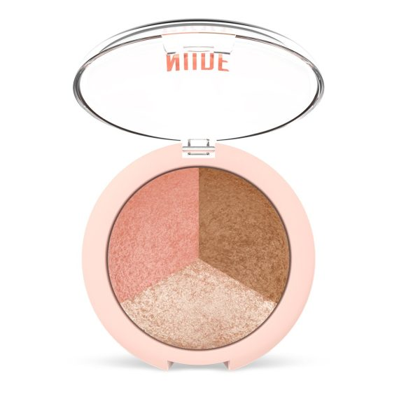 GR Nude Look Baked Trio Face Powder - Blusher-Bronzer-Highlighter